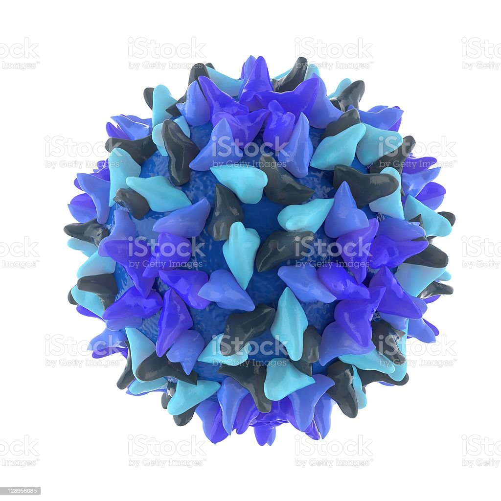 hepatitis virus isolated on white stock photo