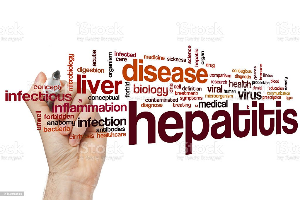 Hepatitis word cloud stock photo