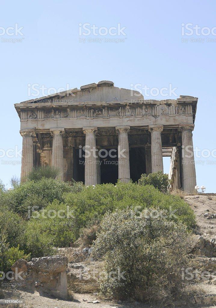Hephaestium in ancient agora royalty-free stock photo