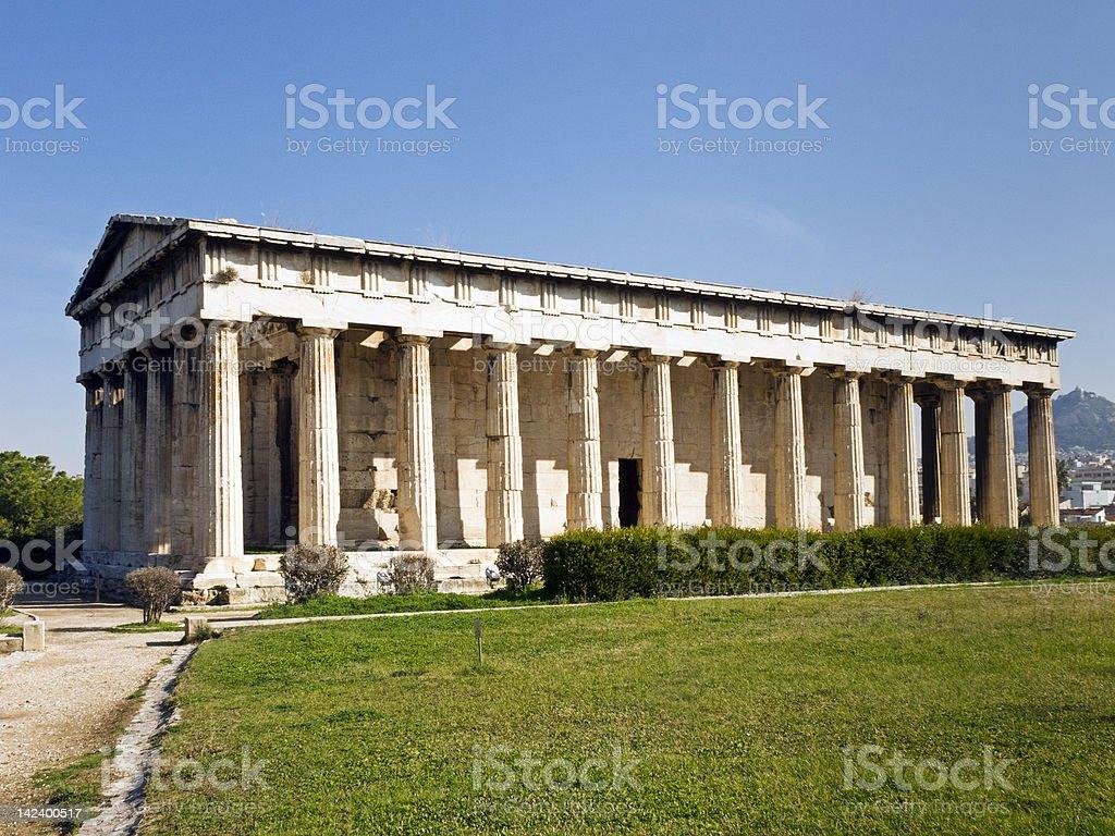 Hephaisteion ( Temple of Hephaistos and Athena ) stock photo