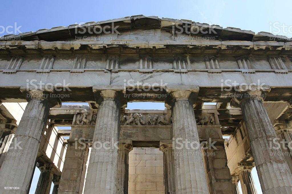 Hephaistos Temple (Thiseon) royalty-free stock photo
