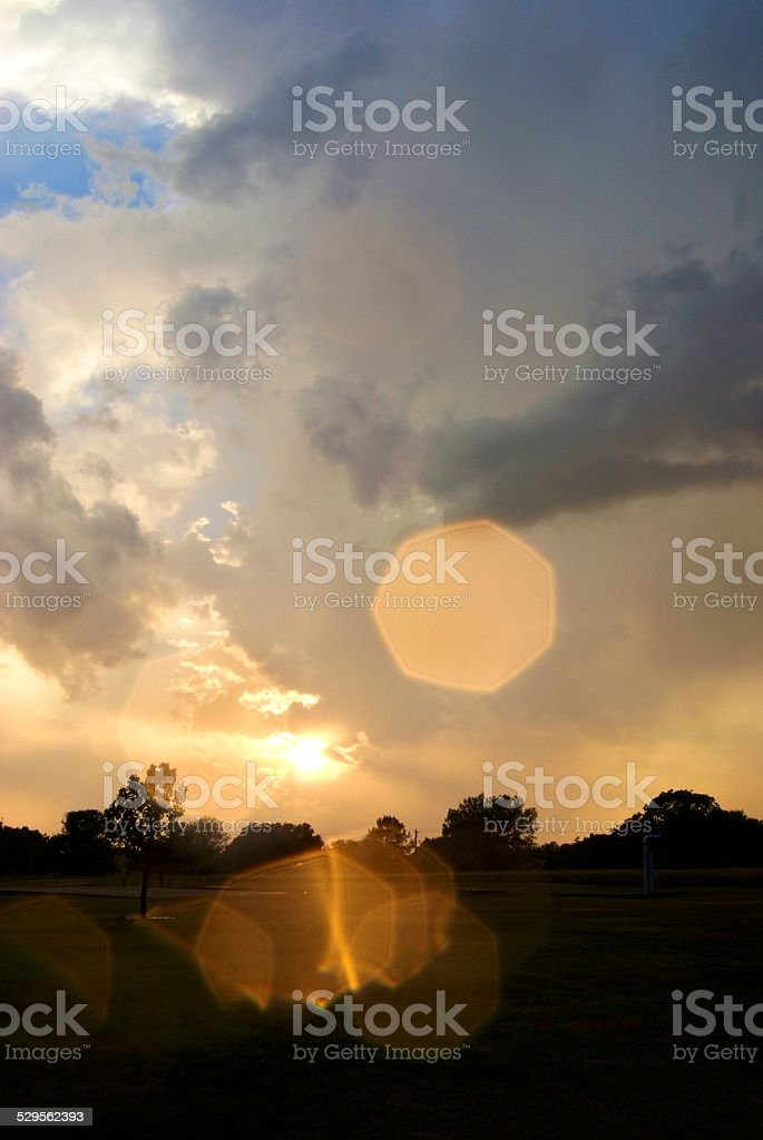 Heptegonal Rays royalty-free stock photo