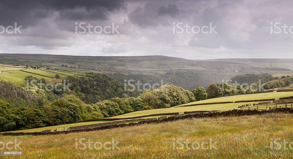 Heptonstall Moor stock photo