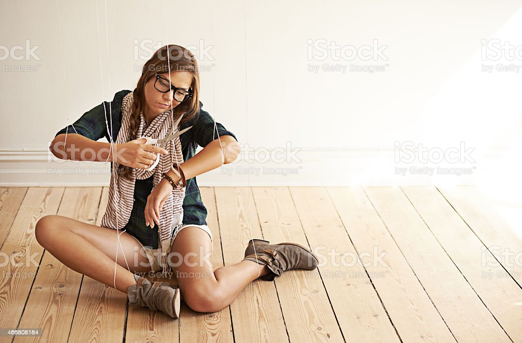 Her actions are out of her control stock photo