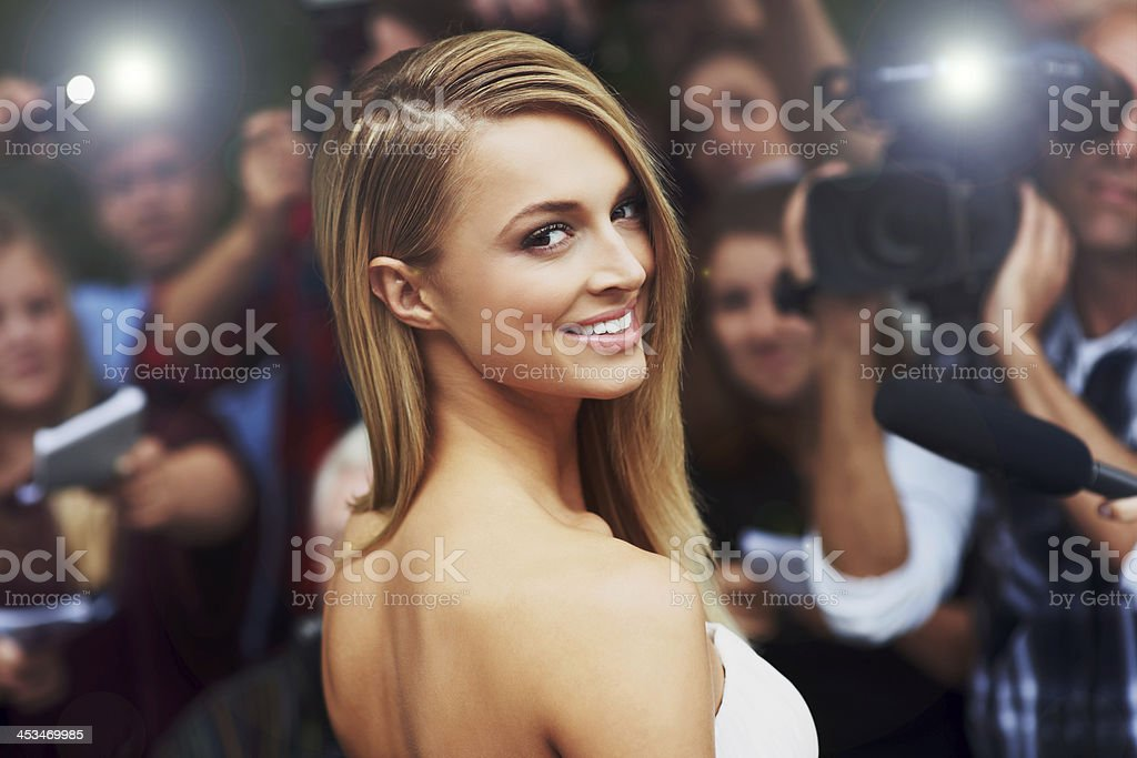 Her beauty and talent is celebrated by critics and fans alike stock photo