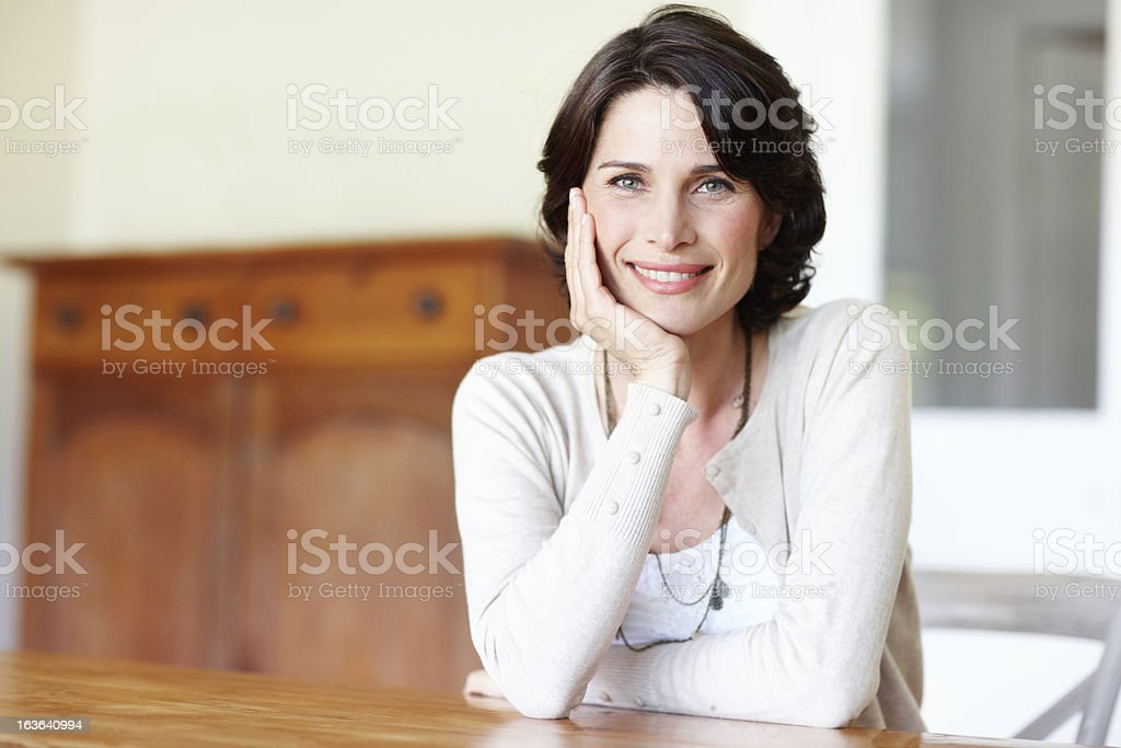 Her beauty is ageless royalty-free stock photo