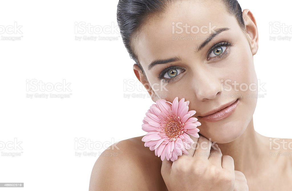 Her beauty is both pure and simple royalty-free stock photo
