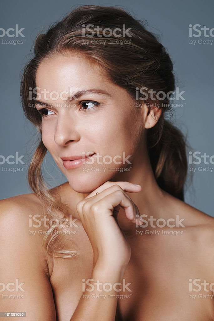 Her beauty is clear for all to see stock photo