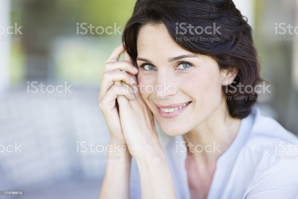 Her beauty shines from within royalty-free stock photo