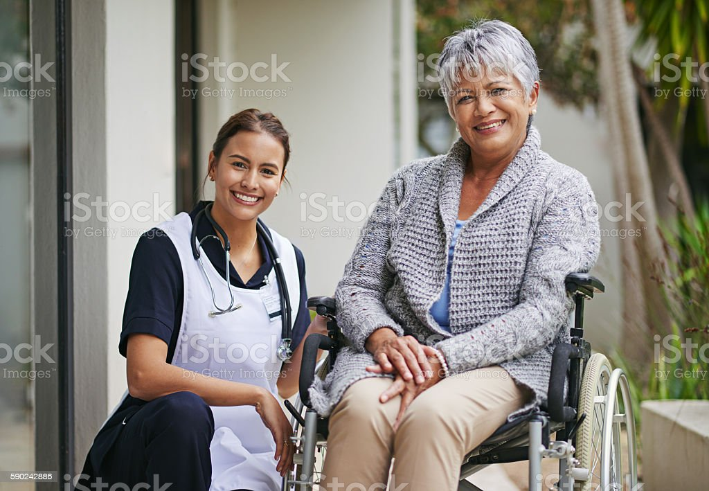 Her care and support makes the world of difference stock photo