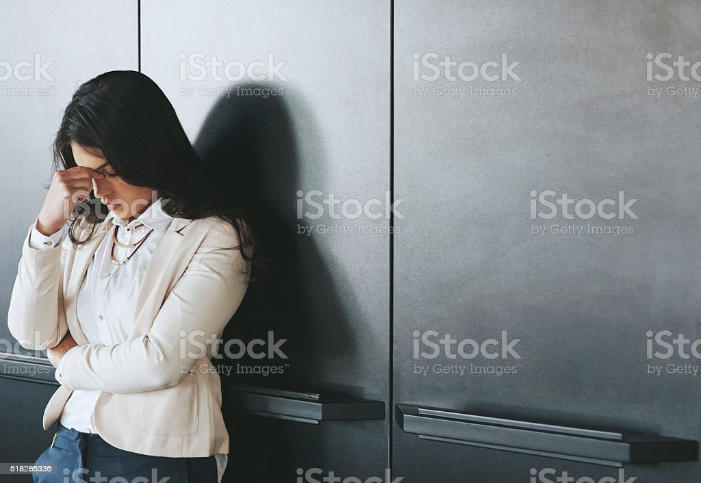 Her career is crumbling stock photo