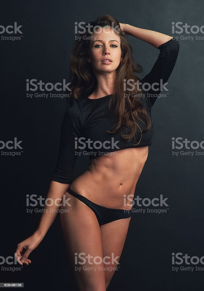 Her confidence is breathtaking stock photo