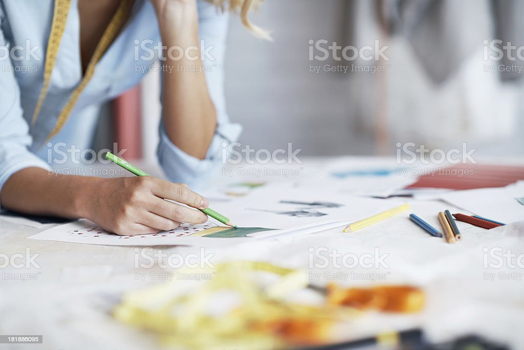 Her creativity knows no limits stock photo