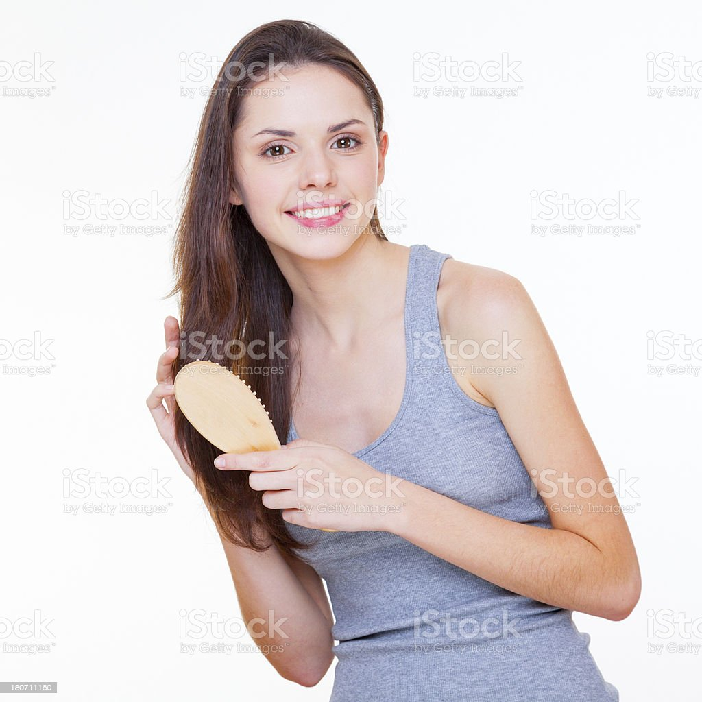 Her daily ritual royalty-free stock photo