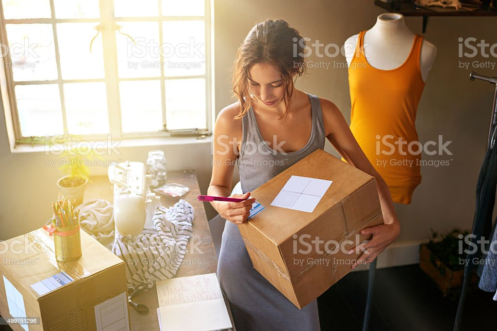 Her designs are trending stock photo