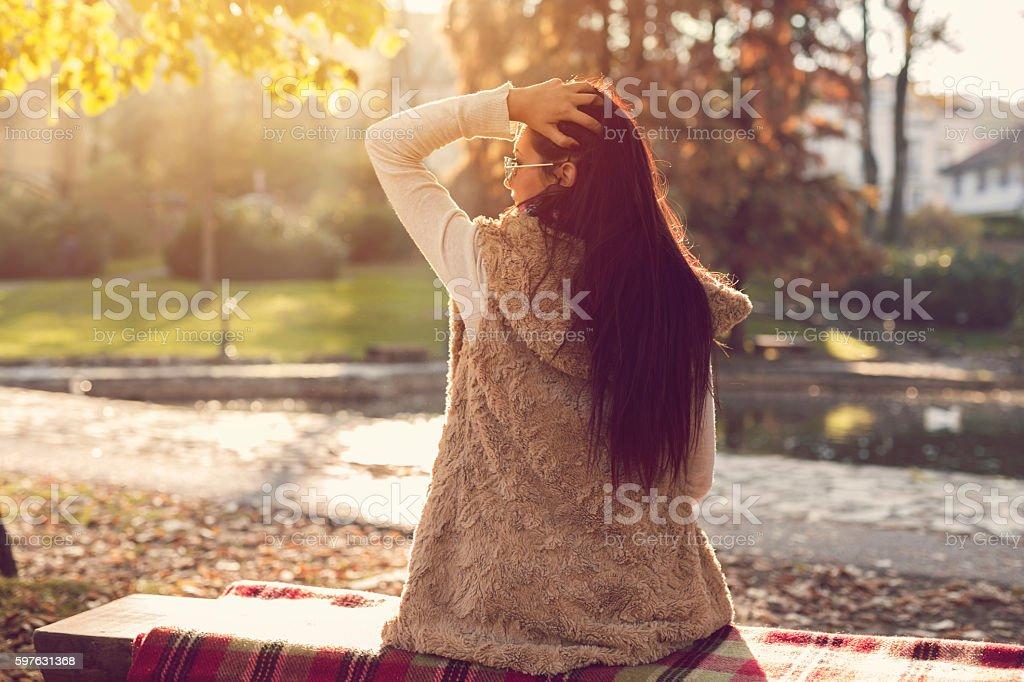 Her enjoyment stock photo