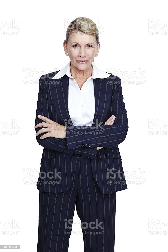 Her experience is second to none royalty-free stock photo