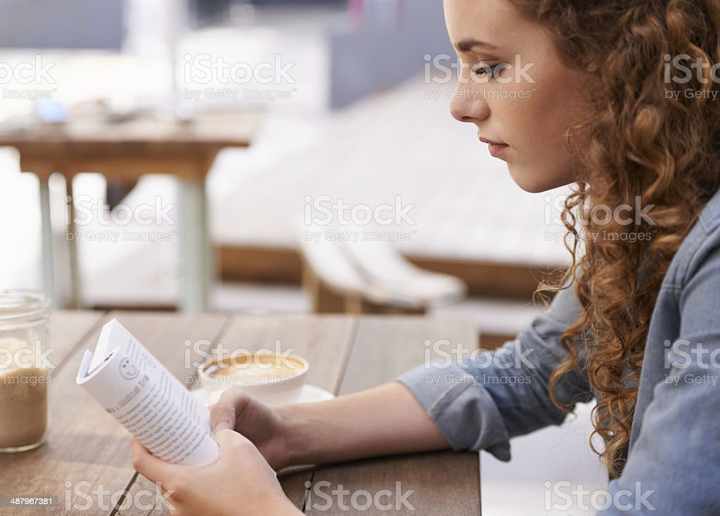 Her favorite afternoon pastime stock photo