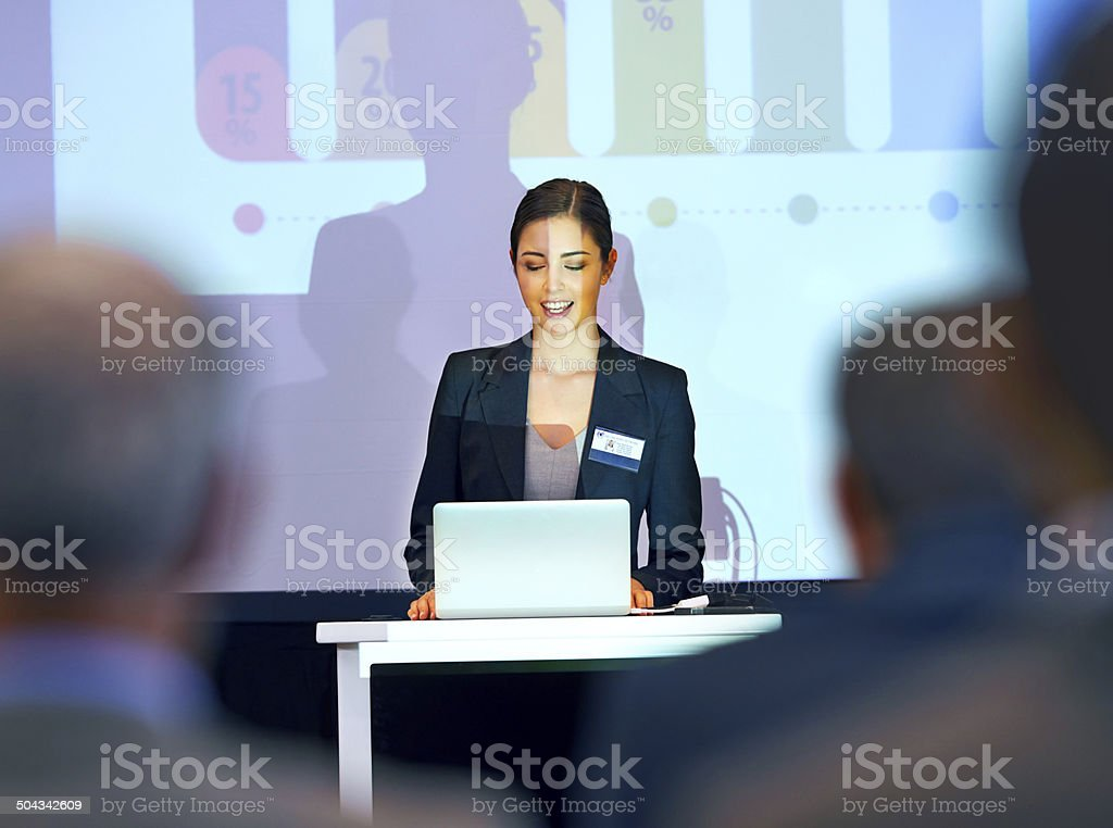 Her first press conference stock photo