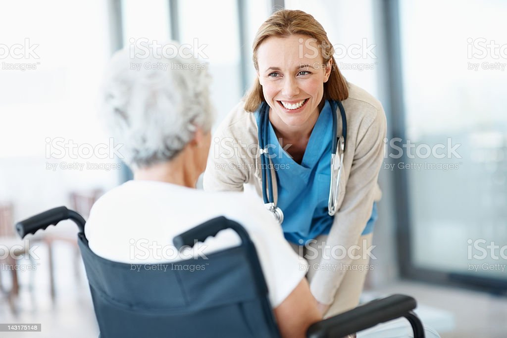 Her health is my main goal royalty-free stock photo