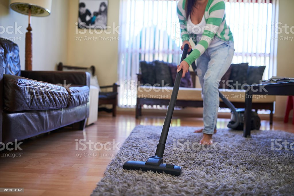 Her home is always neat and tidy stock photo