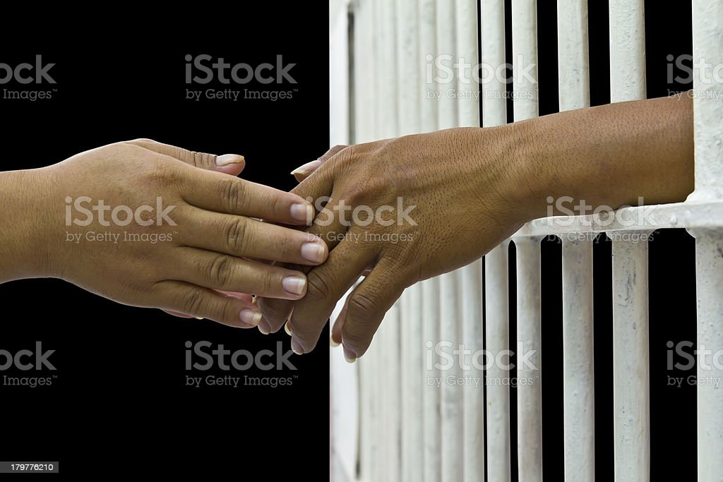 her husband trapped royalty-free stock photo