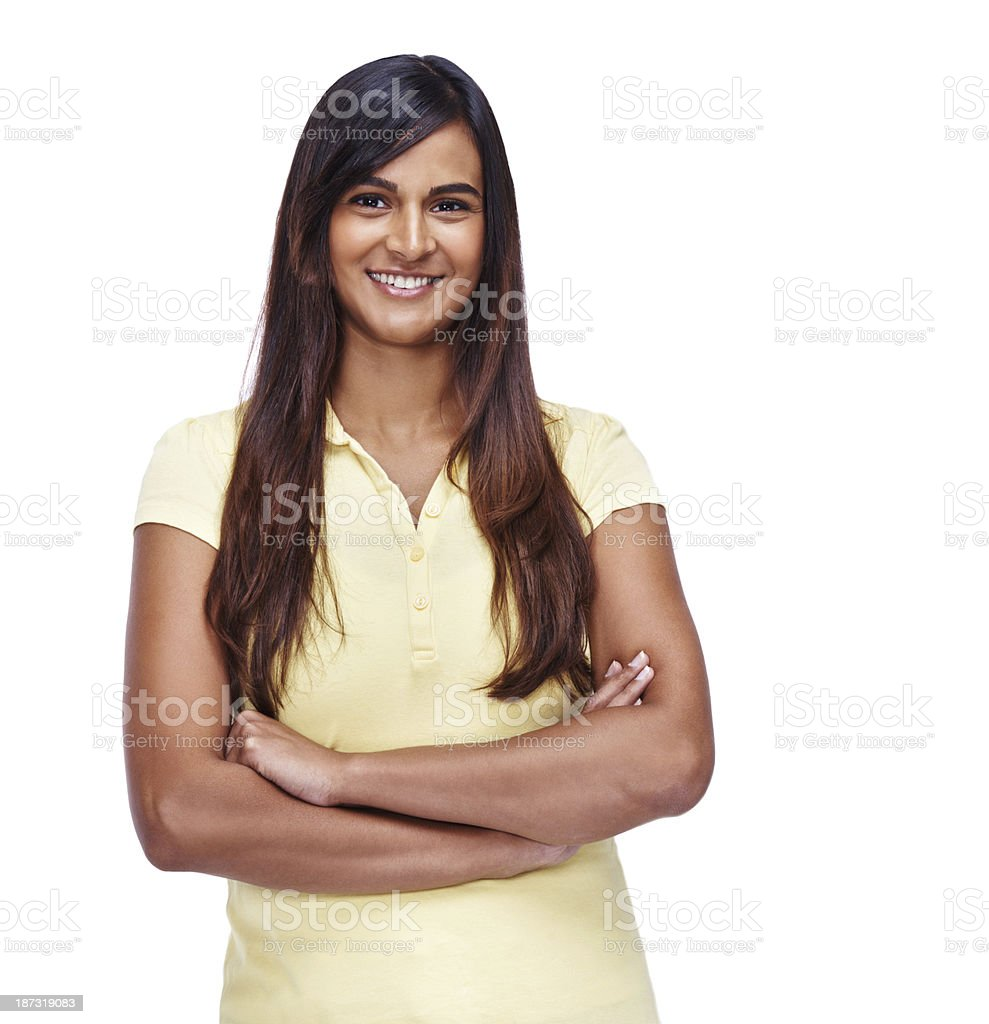 Her inner confidence shines through royalty-free stock photo