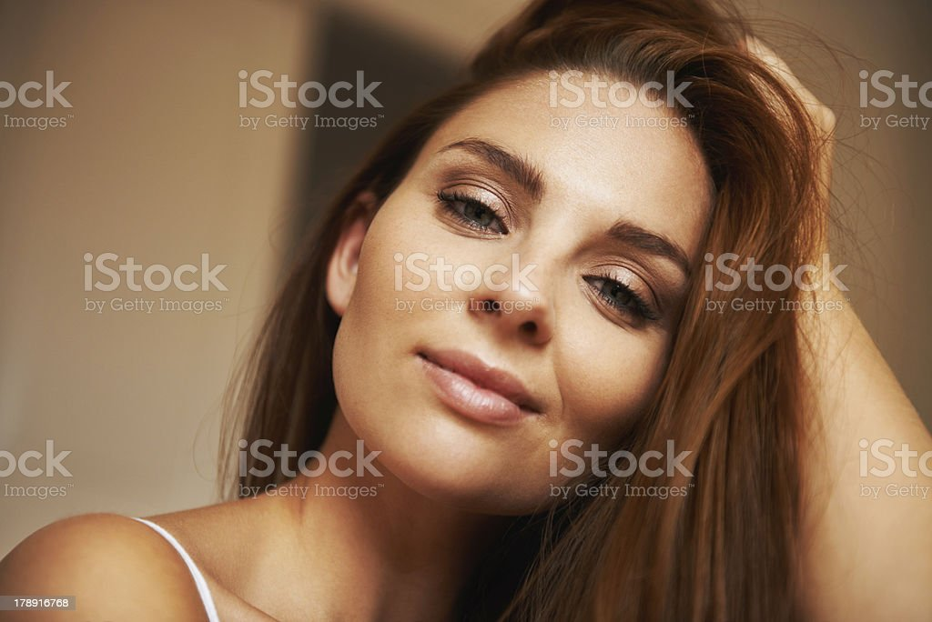 Her inner strength shines through stock photo