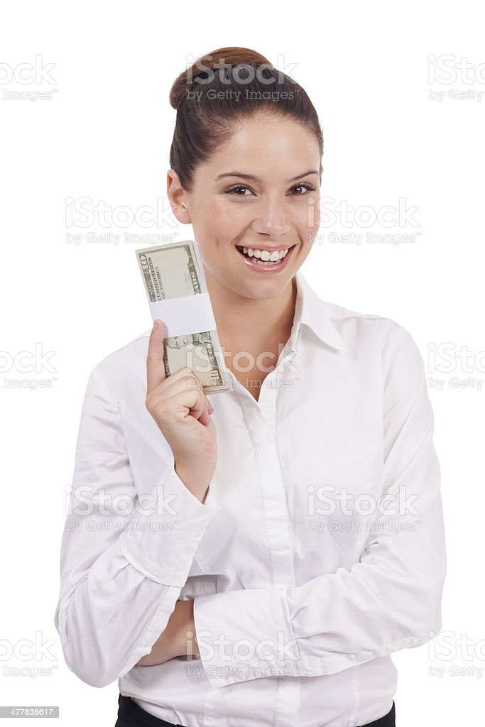 Her investments have brought rewards royalty-free stock photo
