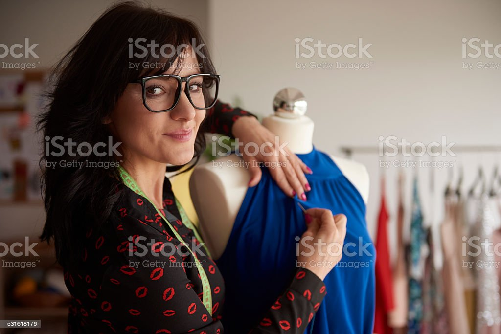 Her job is her passion stock photo