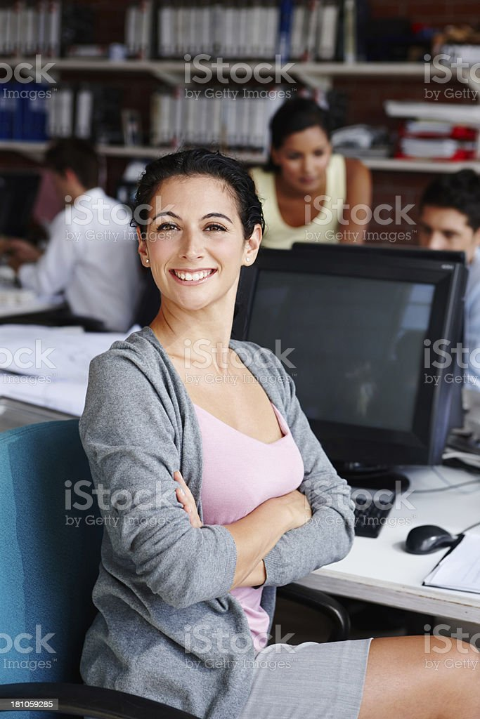 Her leadership skills are second-to-none stock photo