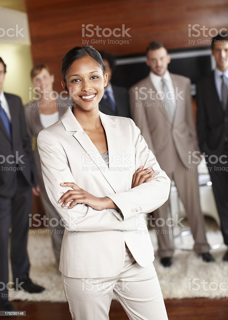 Her leadership skills are undeniable royalty-free stock photo