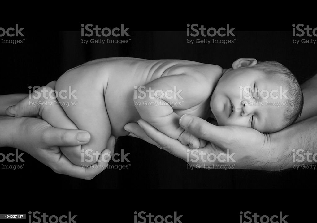Her Life, Their Hands stock photo