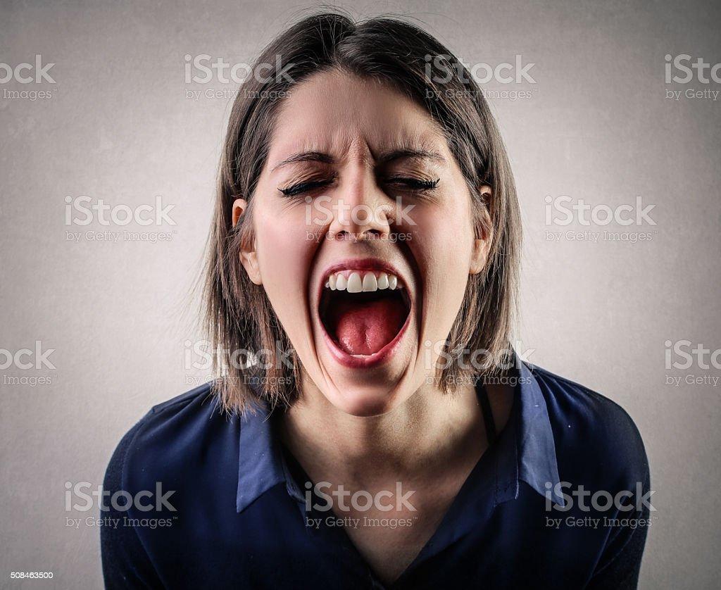 Her Loudest Scream stock photo