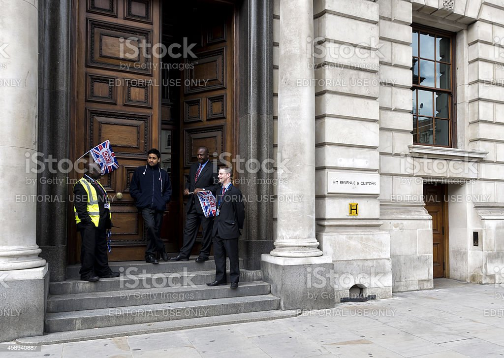 Her Majesty's Revenue and Customs celebrating the Jubilee royalty-free stock photo