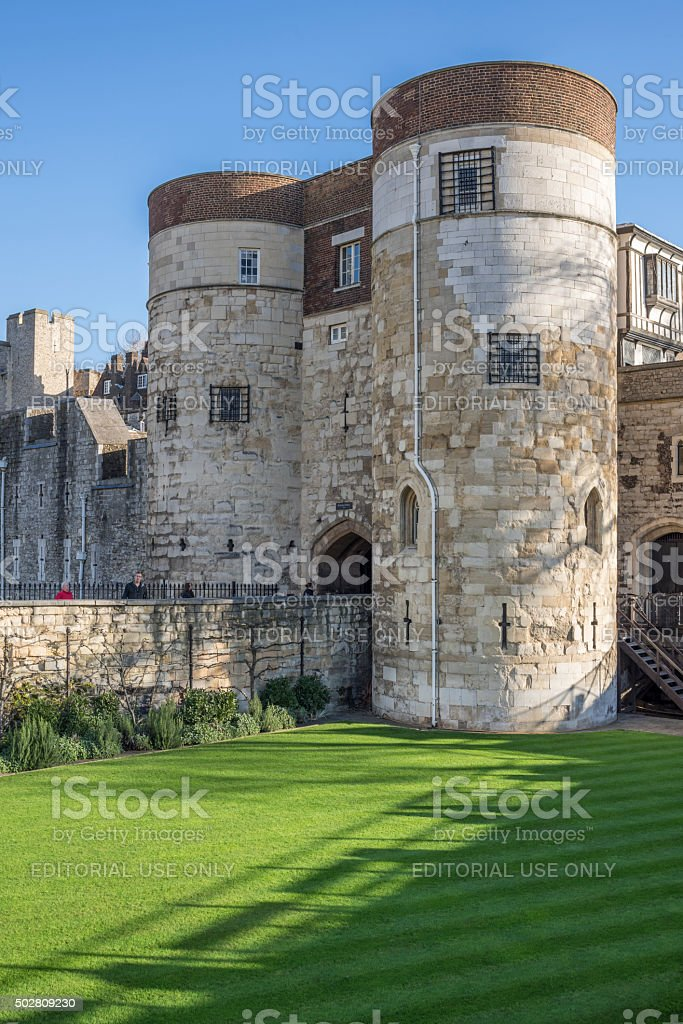 Her Majesty's Royal Palace and Fortress (or Tower of London) stock photo