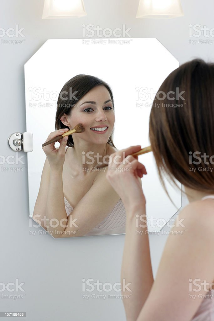 Her make up royalty-free stock photo