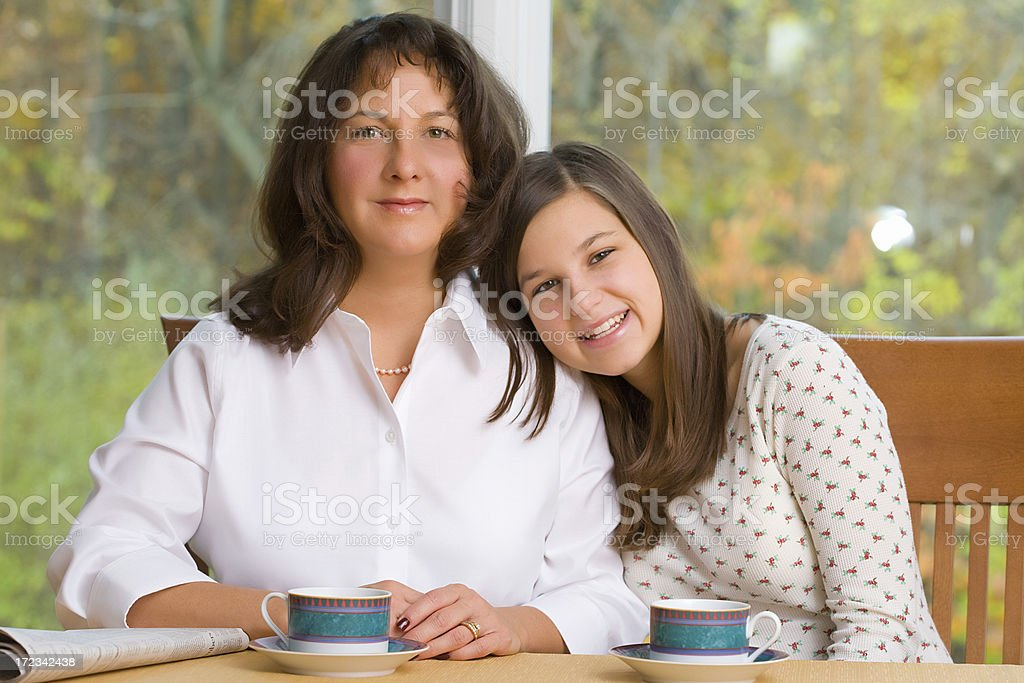 Her Mom royalty-free stock photo