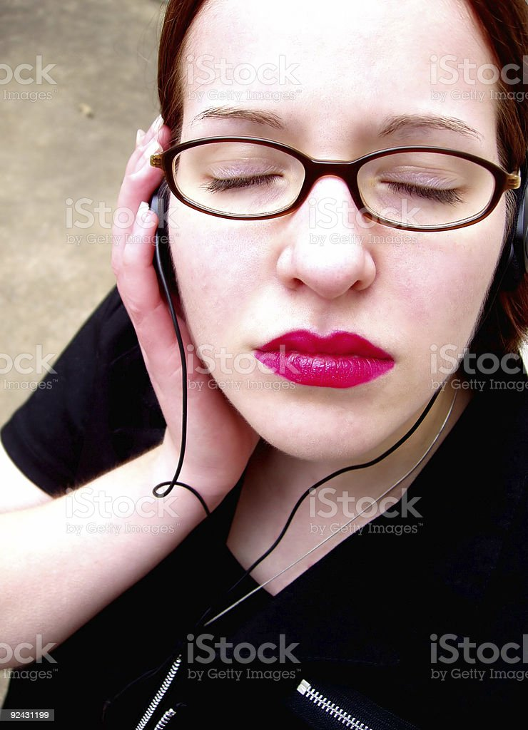 Her Music royalty-free stock photo