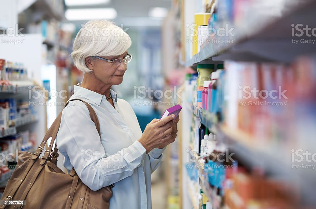 Her one stop shop for wellness stock photo
