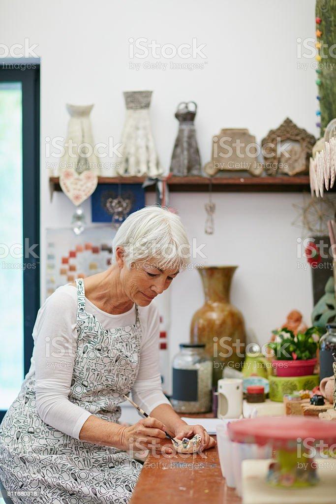Her own crafty corner stock photo