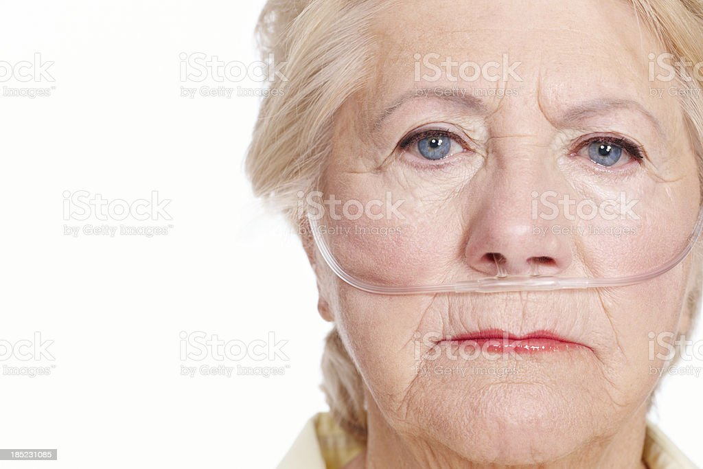 Her pain could be yours ... make sure you're covered stock photo