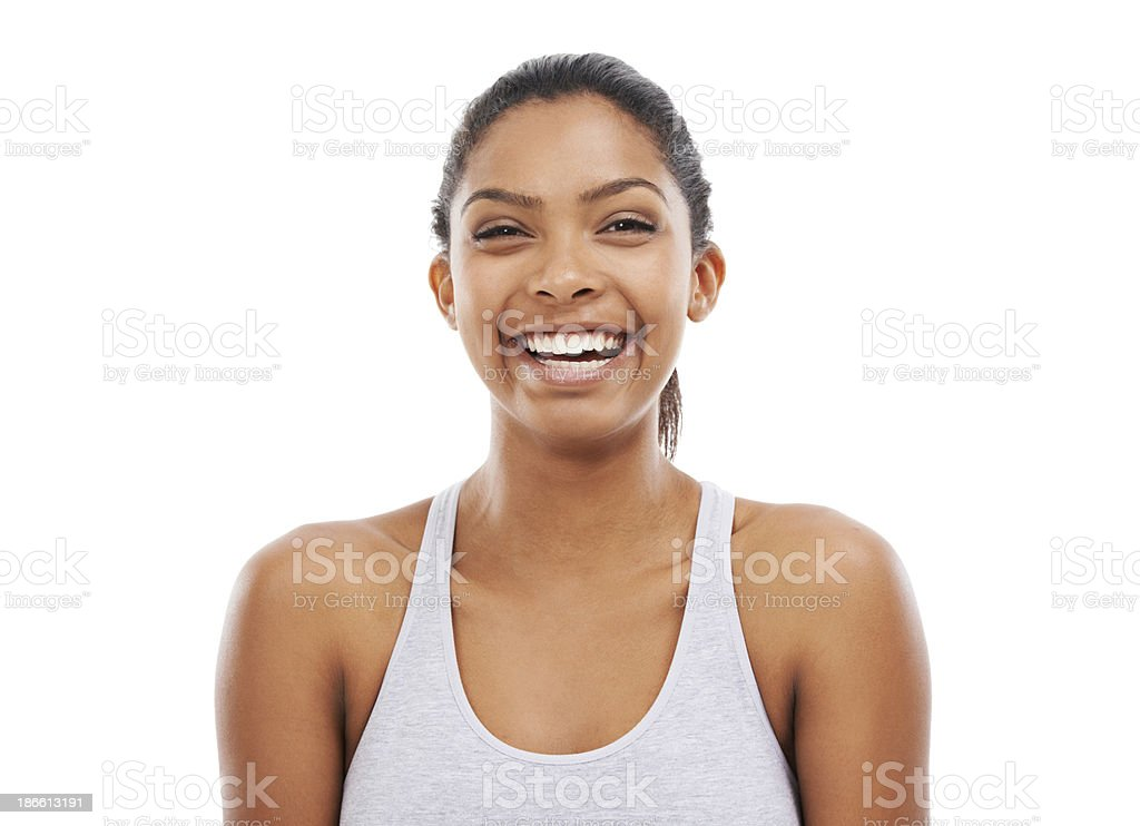 Her positivity is infectious royalty-free stock photo