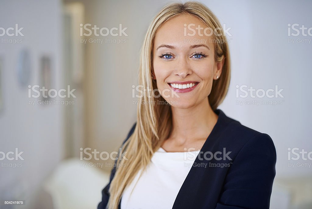Her positivity is simply infectious! stock photo