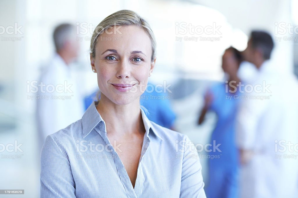Her professionalism is exceptional stock photo