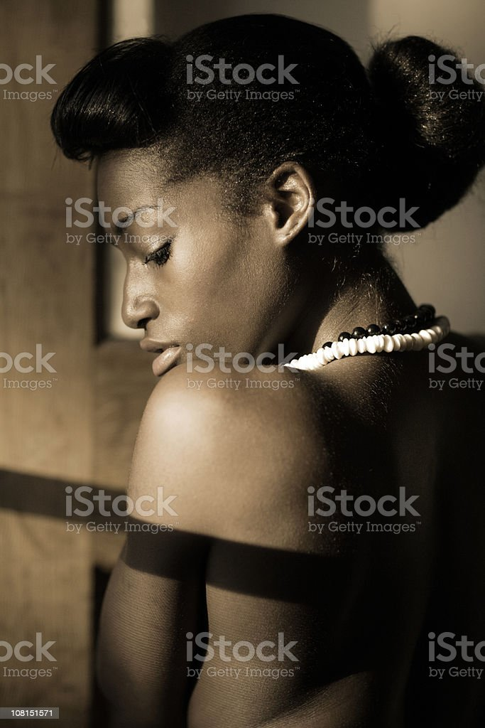 Her profile royalty-free stock photo