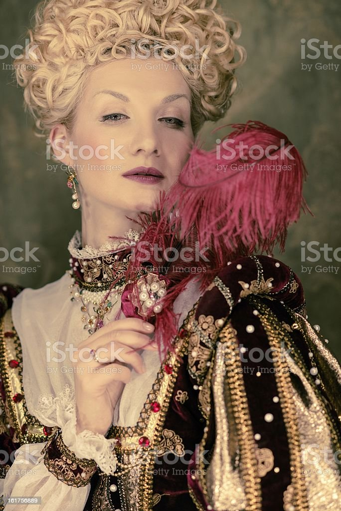 Her royal highness with plume stock photo