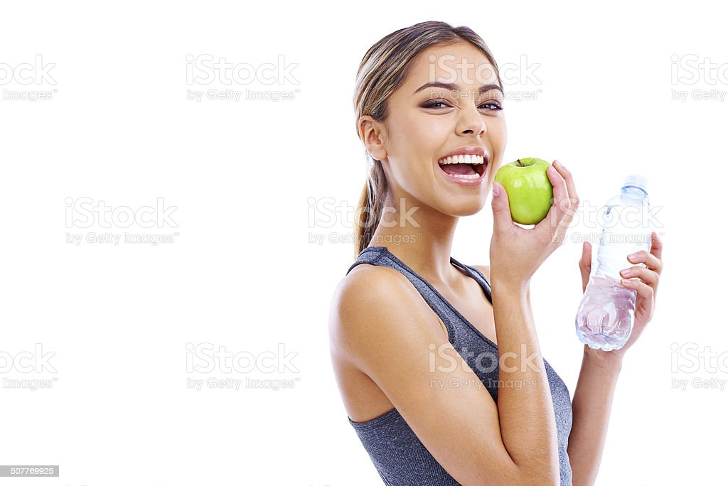 Her secrets to vitality stock photo