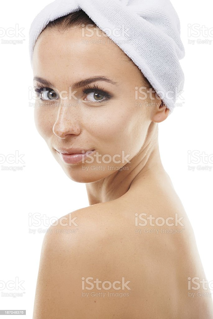 Her skin feels brand new royalty-free stock photo