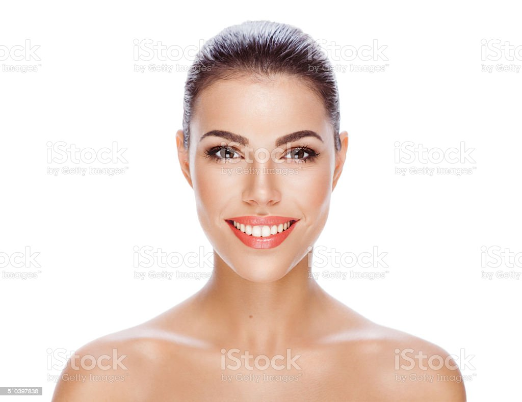 Her skin is flawless stock photo